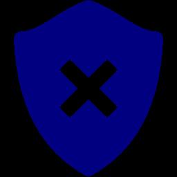 delete shield icon