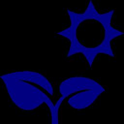 plant under sun icon