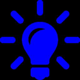 Free Blue Idea Icon Download Blue Idea Icon