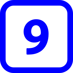 number 9 icon