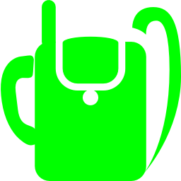 Free Lime Military Backpack Radio Icon Download Lime Military Backpack Radio Icon