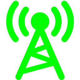 Free Lime Radio Tower Icon Download Lime Radio Tower Icon