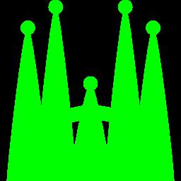 Free Lime Sagrada Familia Icon Download Lime Sagrada Familia Icon