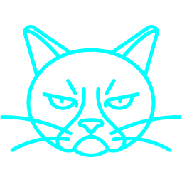 Free Aqua Grumpy Cat Icon Download Aqua Grumpy Cat Icon