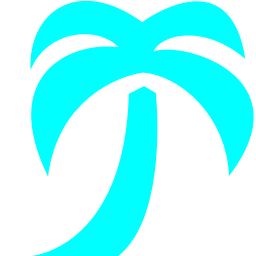 Free Aqua Palm Tree Icon Download Aqua Palm Tree Icon
