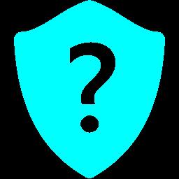 Free Aqua Question Shield Icon Download Aqua Question Shield Icon