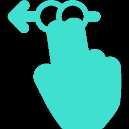 2 fingers swipe left 2 icon
