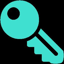 Free Turquoise Key Icon Download Turquoise Key Icon