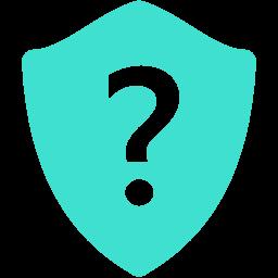 question shield icon
