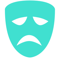 tragedy mask icon