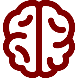 Free Maroon Brain Icon Download Maroon Brain Icon