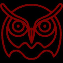 Free Maroon Owl Icon Download Maroon Owl Icon