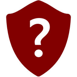 Free Maroon Question Shield Icon Download Maroon Question Shield Icon