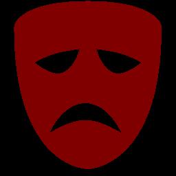 tragedy mask icon