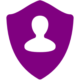 Free Purple User Shield Icon Download Purple User Shield Icon