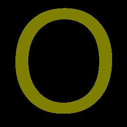 letter O icon