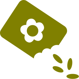 paper bag with seeds icon