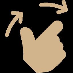2 fingers previous icon