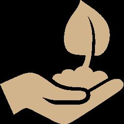 hand planting icon