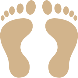 human footprints icon