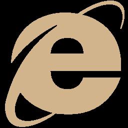 Free Tan Internet Explorer Icon Download Tan Internet Explorer Icon