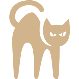 scary cat icon