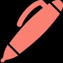 Free Salmon Ball Point Pen Icon Download Salmon Ball Point Pen Icon