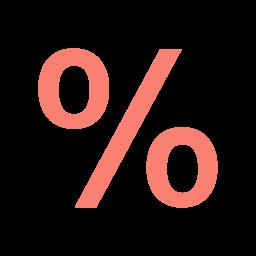 percentage 2 icon
