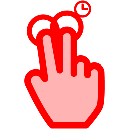 2 fingers copy icon