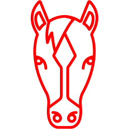 Free Red Horse Icon Download Red Horse Icon