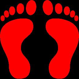 human footprints icon