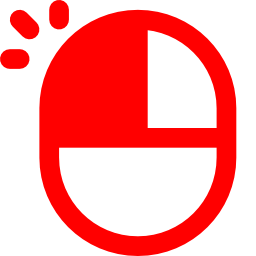 Free Red Mouse Left Click Icon Download Red Mouse Left Click Icon