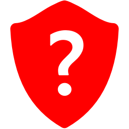 Free Red Question Shield Icon Download Red Question Shield Icon