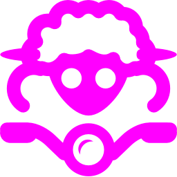 Free Fuchsia Sheep On Bike Icon Download Fuchsia Sheep On Bike Icon