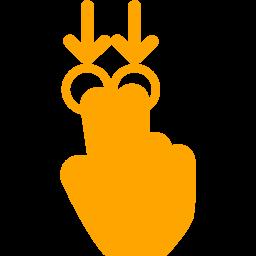 2 fingers swipe down 2 icon