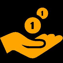 cash receiving icon