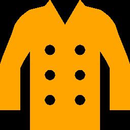 Free Orange Coat Icon Download Orange Coat Icon