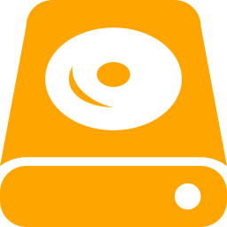 Free Orange Hdd Icon Download Orange Hdd Icon