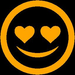 Free Orange In Love Icon Download Orange In Love Icon