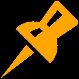 Free Orange Pin Icon Download Orange Pin Icon