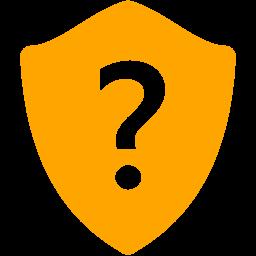 Free Orange Question Shield Icon Download Orange Question Shield Icon