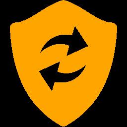 Free Orange Refresh Shield Icon Download Orange Refresh Shield Icon