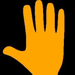 Free Orange Whole Hand Icon Download Orange Whole Hand Icon