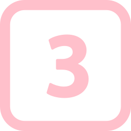 Free Pink Number 3 Icon Download Pink Number 3 Icon