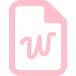 Free Pink Word Icon Download Pink Word Icon