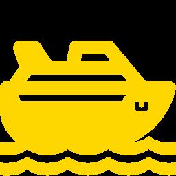 Free Gold Cruise Ship Icon Download Gold Cruise Ship Icon