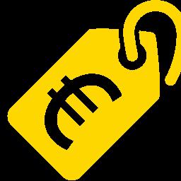 price tag euro icon