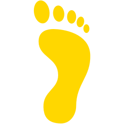 right footprint icon