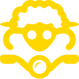 Free Gold Sheep On Bike Icon Download Gold Sheep On Bike Icon