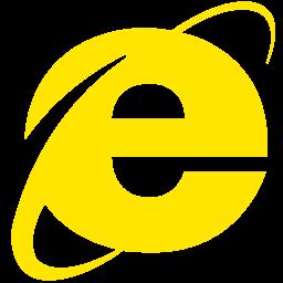 Free Yellow Internet Explorer Icon Download Yellow Internet Explorer Icon
